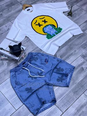 Thick Neck Oversize Tee Overside Jeans Short Combo Avail | Clothing for sale in Lagos State, Lagos Island (Eko)
