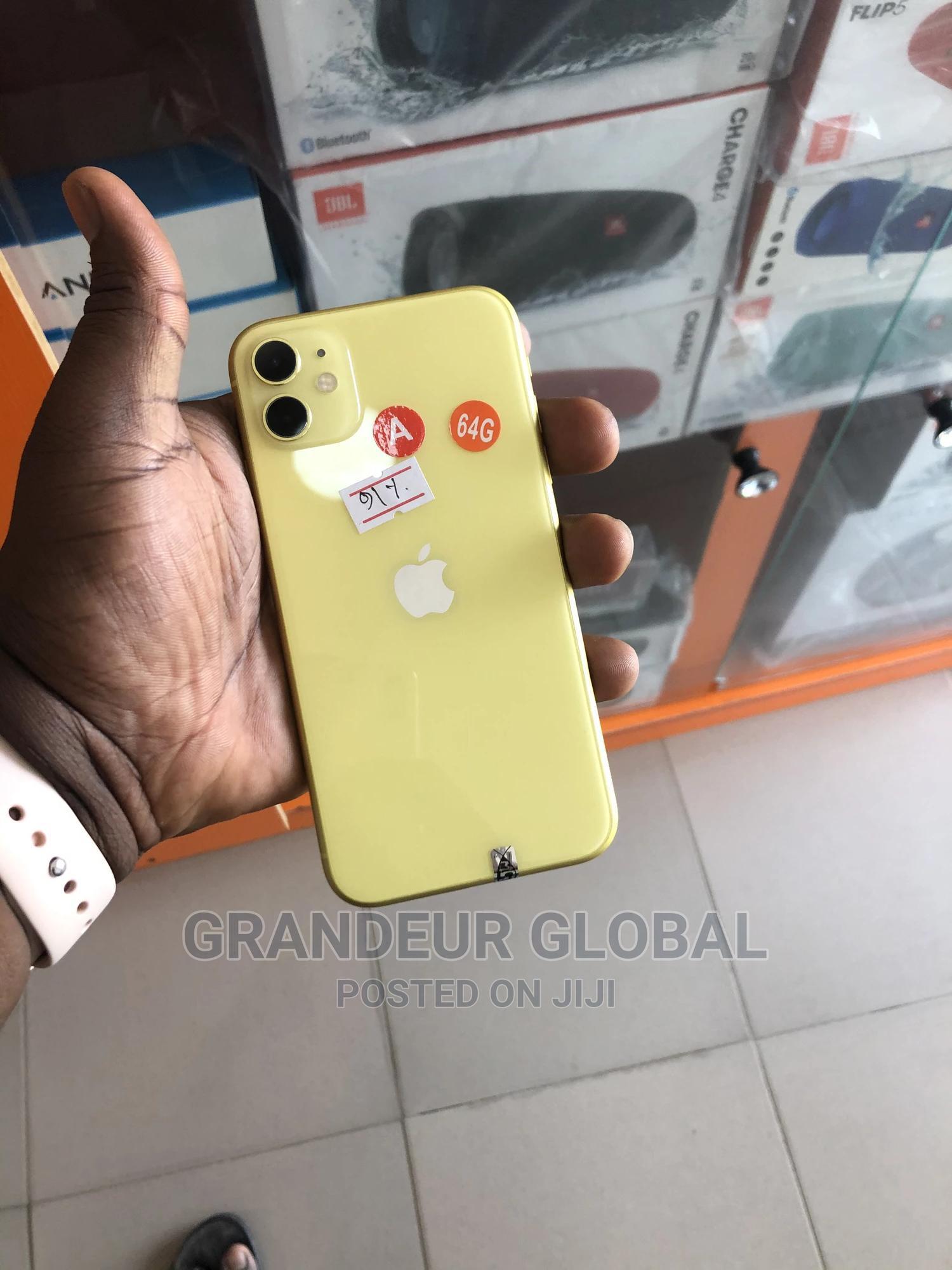 Apple iPhone 11 64 GB Yellow   Mobile Phones for sale in Osogbo, Osun State, Nigeria