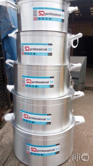 5pcs Industrial Alu. Cooking Pot | Restaurant & Catering Equipment for sale in Lagos State, Lagos Island (Eko)