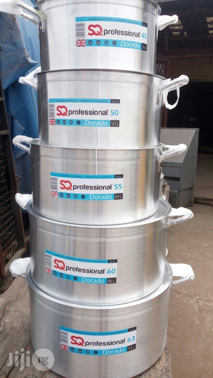 5pcs Industrial Alu. Cooking Pot