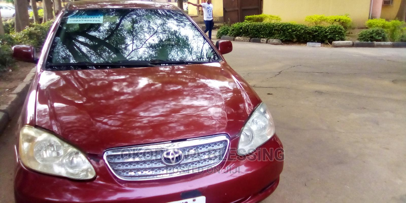 Toyota Corolla 2007 Red | Cars for sale in Garki 2, Abuja (FCT) State, Nigeria