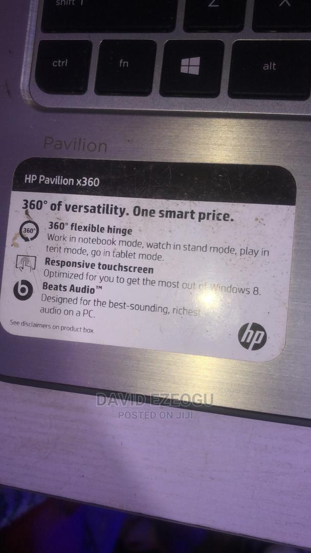 Laptop HP Pavilion 13 X360 8GB Intel Pentium 512GB   Laptops & Computers for sale in Ikoyi, Lagos State, Nigeria