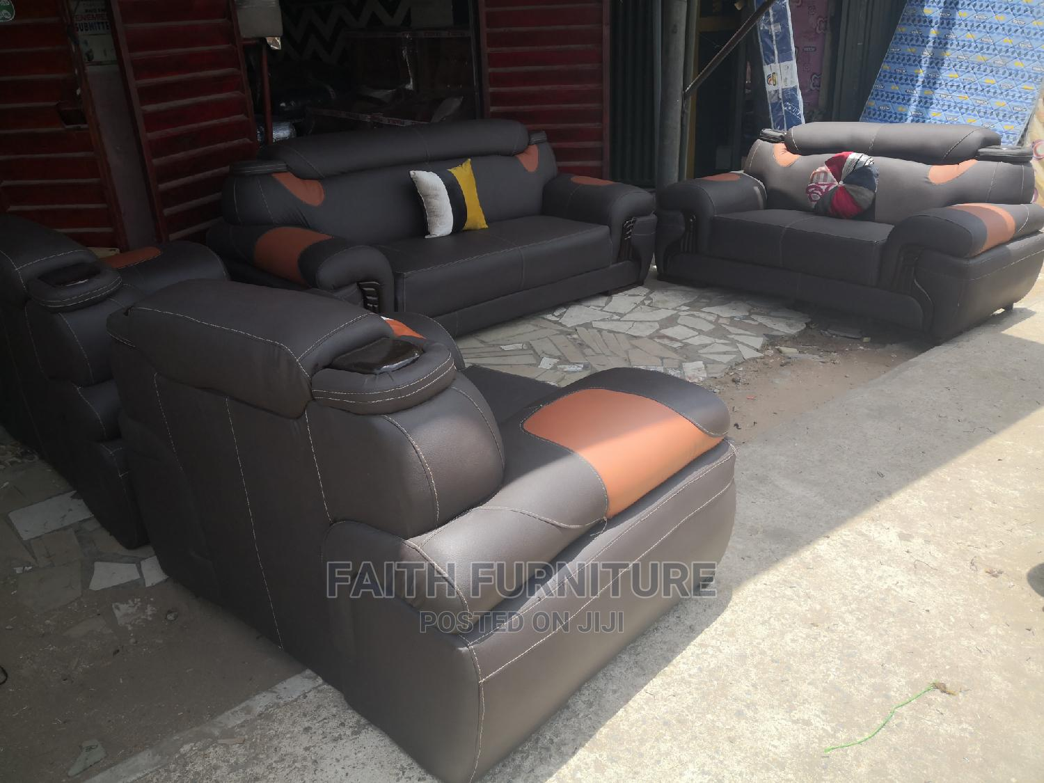 Complete Set of Leather Chair | Furniture for sale in Ikeja, Lagos State, Nigeria