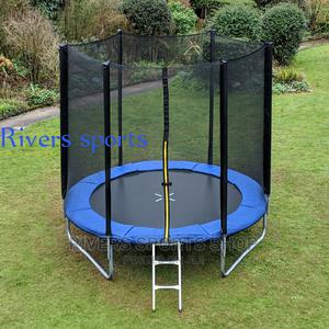 6FT Trampoline Withe Safety Enclosure   Sports Equipment for sale in Rivers State, Port-Harcourt