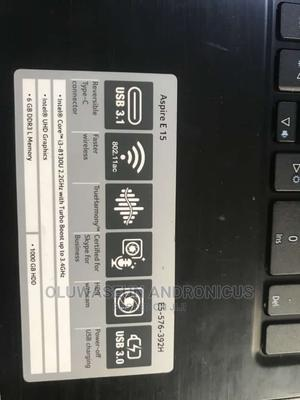Laptop Acer Aspire E15 6GB Intel Core I3 HDD 1T | Laptops & Computers for sale in Ondo State, Akure