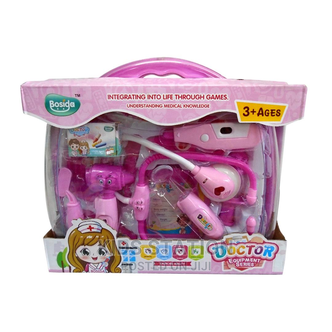 Pink Doctor 2-In-1 Pretend Play Set