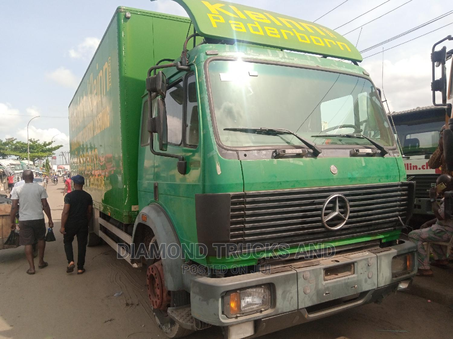 Mercedes Benz 1824 Container Body Truck Green Colour