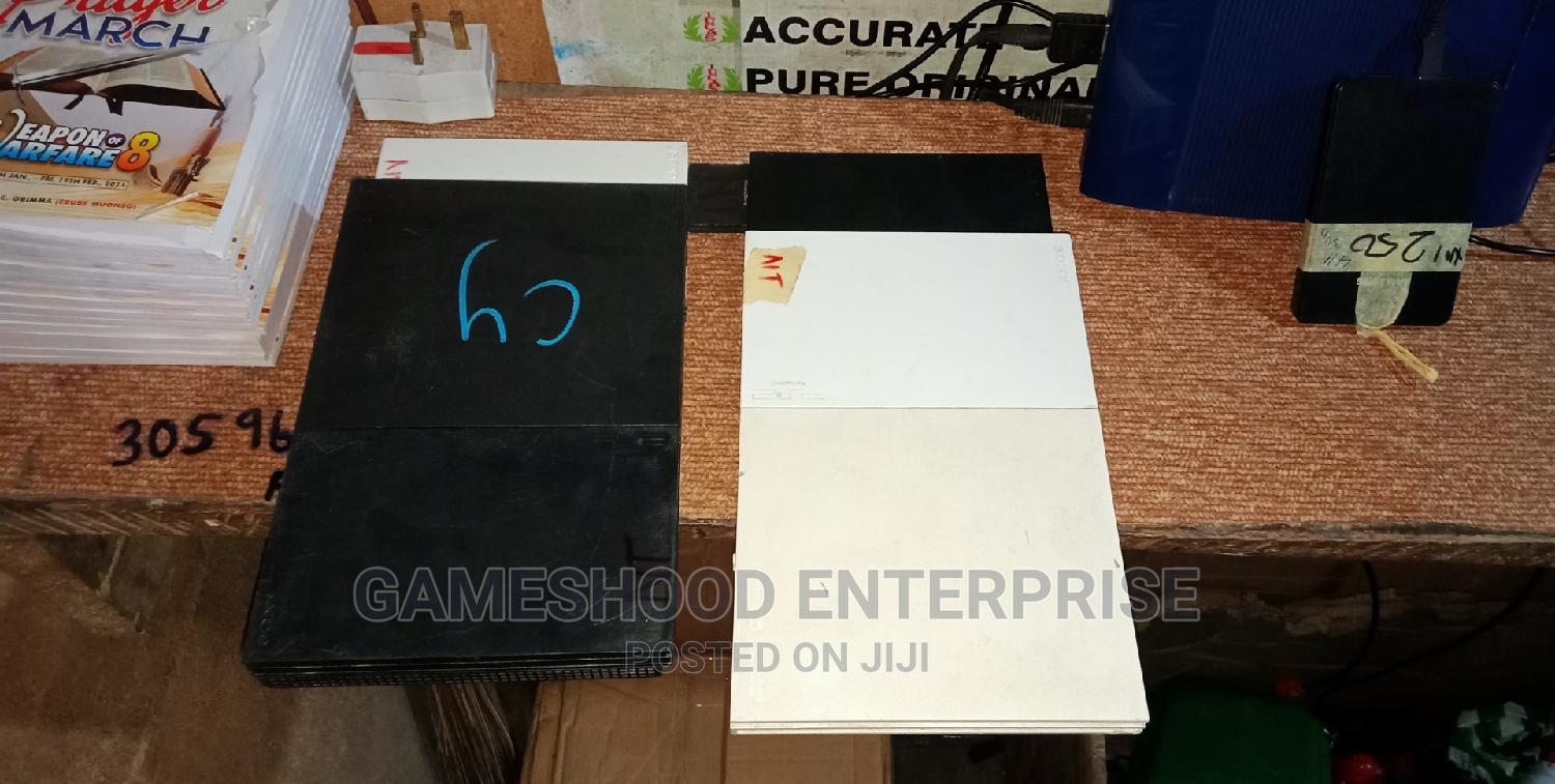 Ps2 Slim With 2pads Memory Card Games   Video Game Consoles for sale in Awka, Anambra State, Nigeria