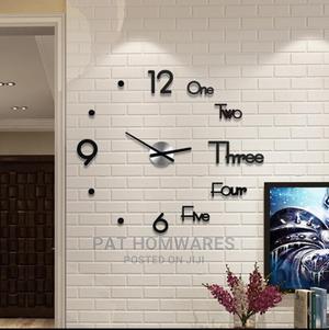 DIY Clock Acrylic Digital Wall Clock 3D | Home Accessories for sale in Lagos State, Tarkwa Bay Island