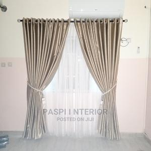 Brown Color Eyelet Designed Curtains   Home Accessories for sale in Lagos State, Yaba
