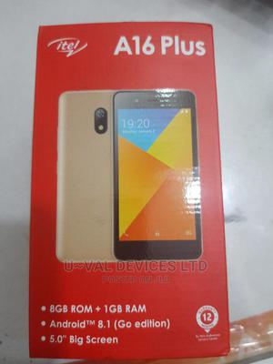 New Itel A16 Plus 8 GB Black | Mobile Phones for sale in Lagos State, Ikeja