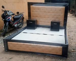 6by6 Feet Bedframe. King's Size Bed With 2 Bedside Drawers   Furniture for sale in Lagos State, Ikorodu