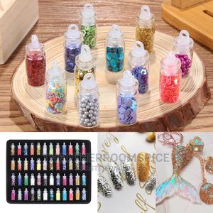 48pc Nail Art Glitter Powder Manicure Design Sticker Set | Tools & Accessories for sale in Lagos State, Yaba