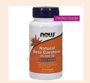 Now Foods Natural Beta Carotene 7,500mcg ( 25,000IU) 90 Caps | Vitamins & Supplements for sale in Lagos State, Ikeja