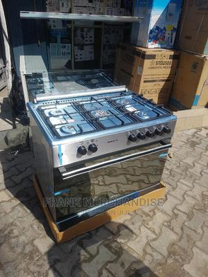 MAXI Gas Cooker 60by90 5 Normal Gas Burner With Oven Grill | Kitchen Appliances for sale in Lagos State, Yaba