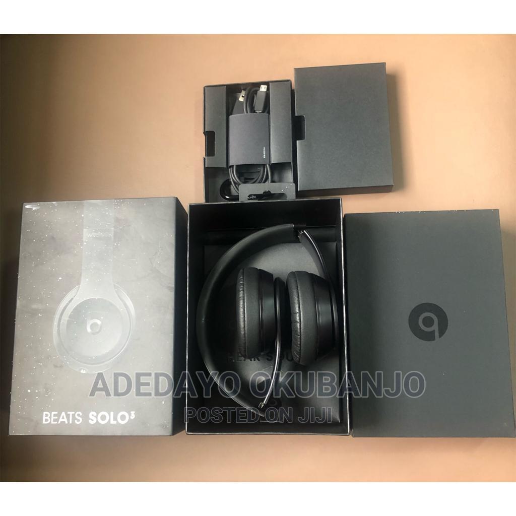 Beat Solo 3 Wireless Headphone - Black   Headphones for sale in Ikeja, Lagos State, Nigeria