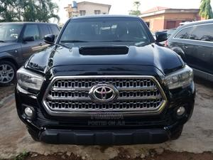 Toyota Tacoma 2016 4dr Double Cab Black | Cars for sale in Lagos State, Agege