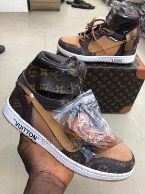 Original Leather Louis Vuitton Nike Sneakers Available Now | Shoes for sale in Lagos State, Lagos Island (Eko)