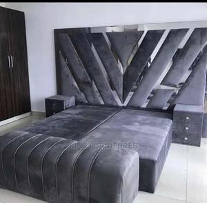 (6/6) Silver Base Bedframe Complete Set | Furniture for sale in Lagos State, Ojo