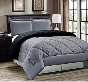 Ash and Black Duvet, Bedspread and 4 Pillowcases | Home Accessories for sale in Lagos State, Ikeja