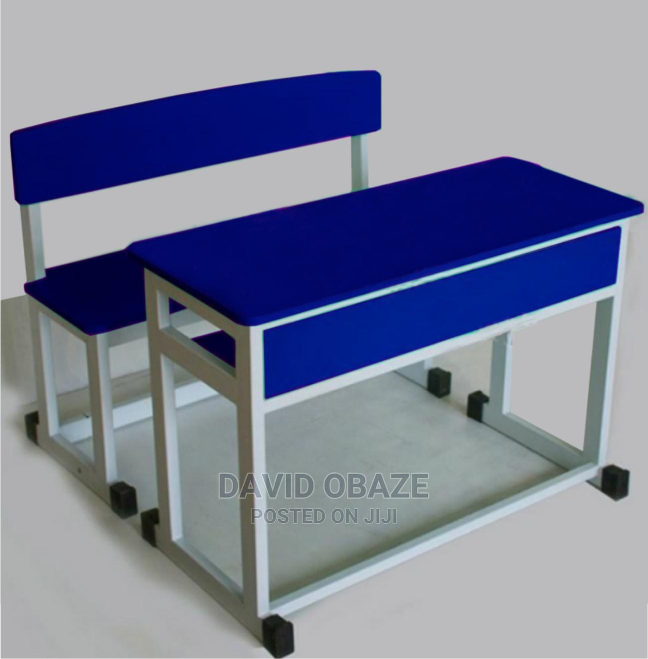 Double Classroomtable and Chair