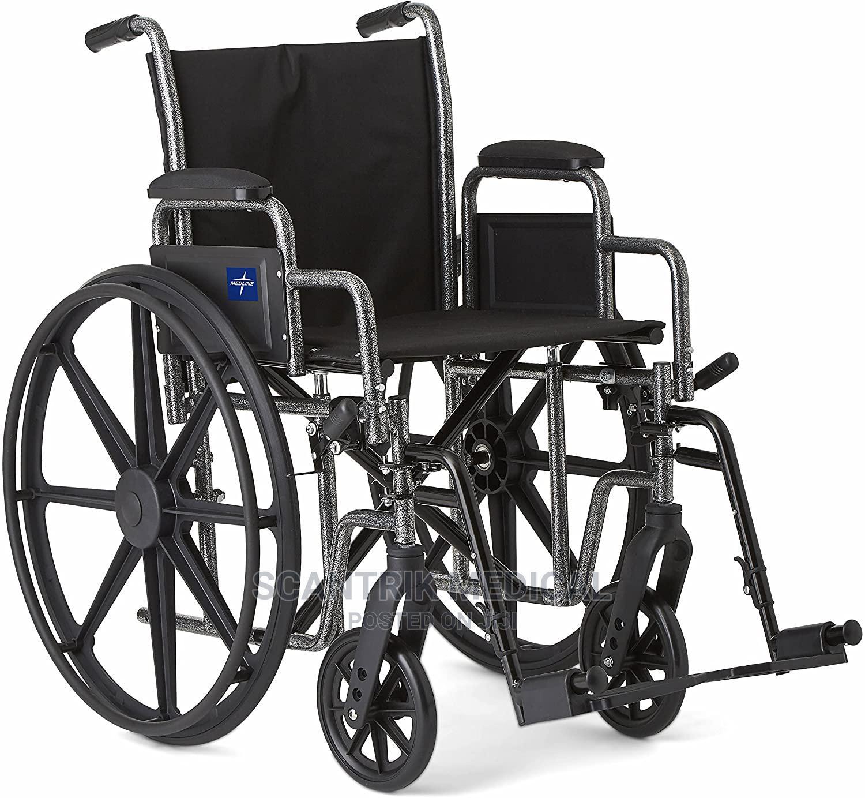 Hospital Leather Armrest Wheelchair