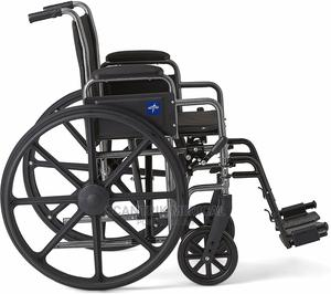Medical Foldable Light Weight Manual Steel Wheelchair | Medical Supplies & Equipment for sale in Abuja (FCT) State, Kuje