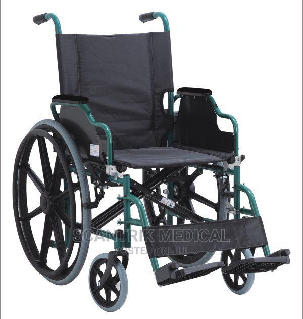 Cheap Chrome Steel Manual Wheelchair
