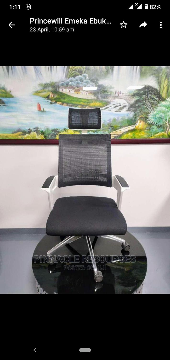 Executive Office Chair White With Head Rest