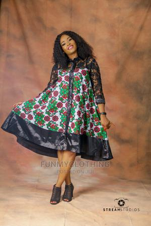 Ankara Shirt Dress With Lace | Clothing for sale in Lagos State, Amuwo-Odofin