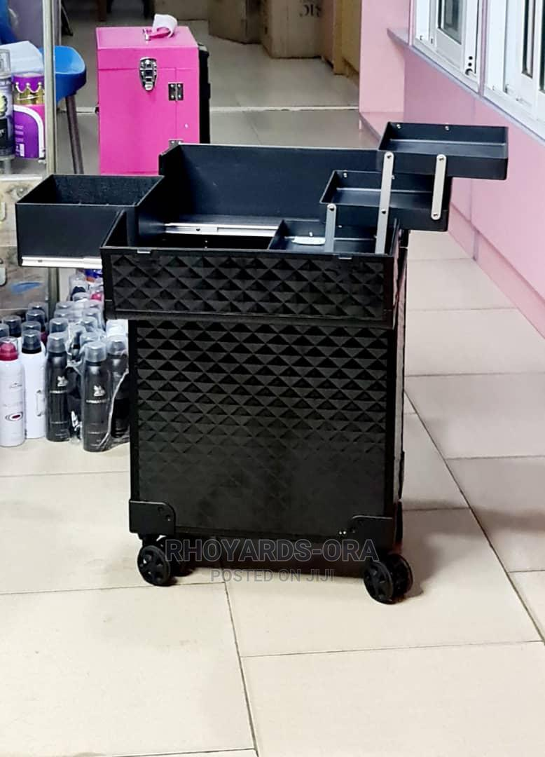 Makeup Box With Wheel Durable   Tools & Accessories for sale in Agege, Lagos State, Nigeria