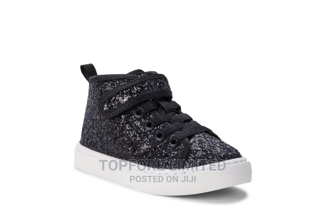 Wonder Nation Athletic Glitter Fashionable Hi-Top Sneakers