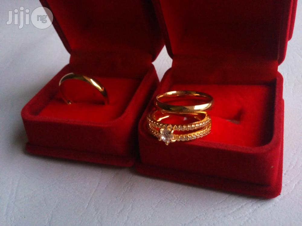 Brand New Romania Gold Engagement and Wedding Ring