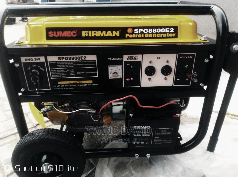 Sumec Firman Generator SPG8800E2,Key Start,6.5kva.