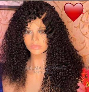 Human Hair Curly Wig   Hair Beauty for sale in Lagos State, Tarkwa Bay Island