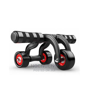 Ab Wheel 3 Roller With Knee Pad Mat   Sports Equipment for sale in Lagos State, Yaba