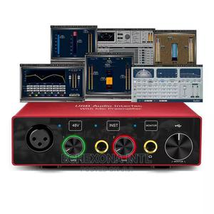 2-In, 2-Out USB Audio Interface/Soundcard   Audio & Music Equipment for sale in Lagos State, Oshodi