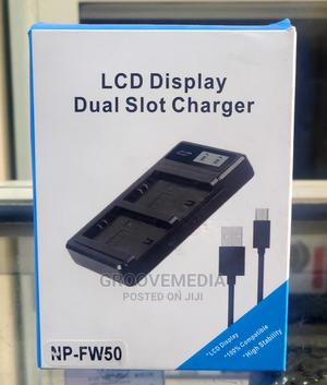 Sony FW50 Dual Desktop Charger for Sony Mirrorless Camera | Accessories & Supplies for Electronics for sale in Lagos State, Ikeja