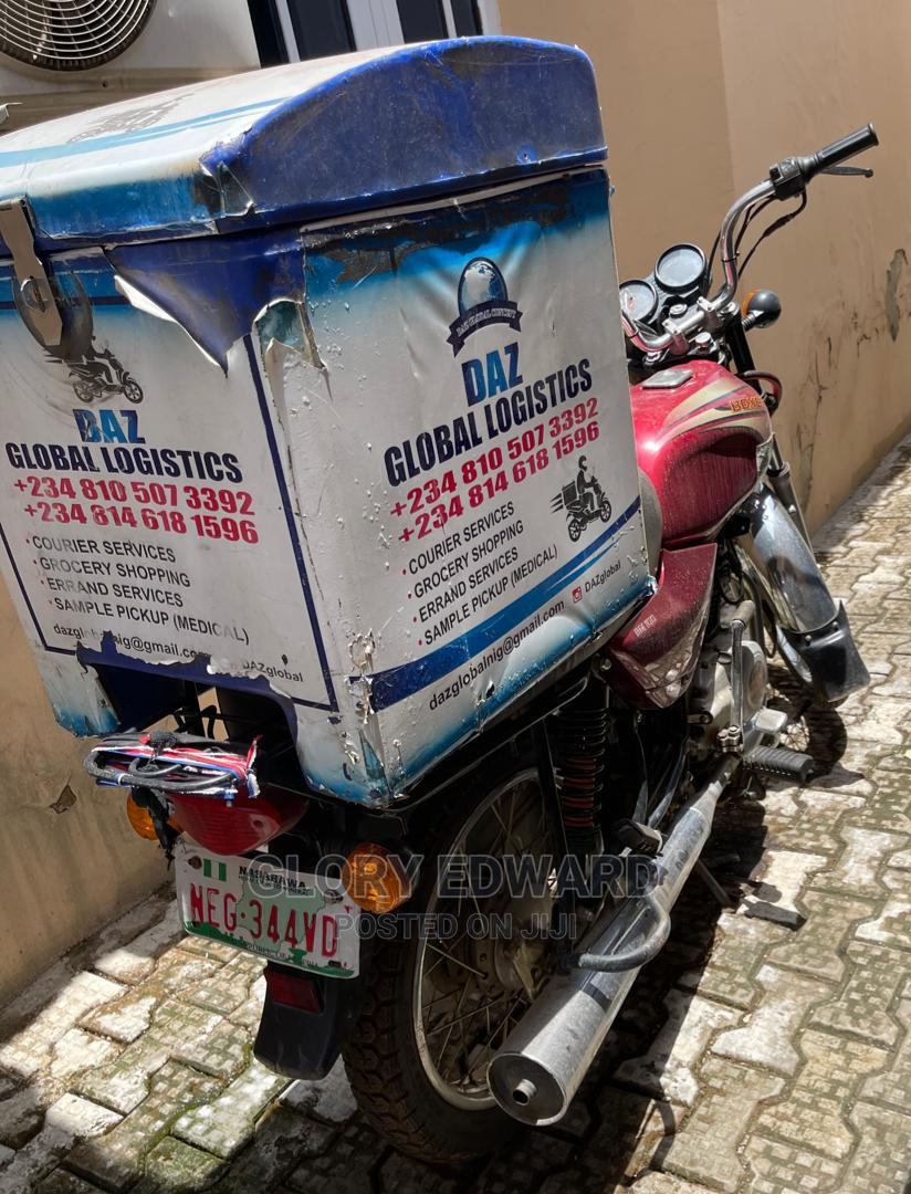 Delivery Bike With Delivery Box and Helmet | Logistics Services for sale in Gwarinpa, Abuja (FCT) State, Nigeria