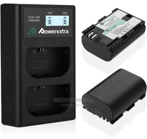 Power Extra 2pcs E6 Batteries With Dual USB Desktop Charger   Accessories & Supplies for Electronics for sale in Lagos State, Ikeja