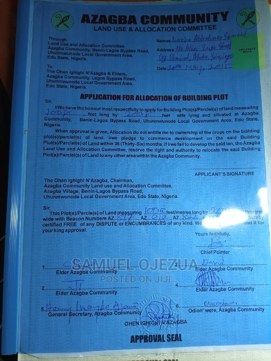 Archive: Land 100ft / 200ft Land for Sale in Benin City