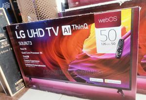 LG 50''inch FLAT 4K UHD SMART TV Magic Control Satellite   TV & DVD Equipment for sale in Lagos State, Apapa