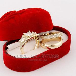Rommanel Wedding Ring Set 18 Karat Gold Plated G63 | Wedding Wear & Accessories for sale in Lagos State, Surulere
