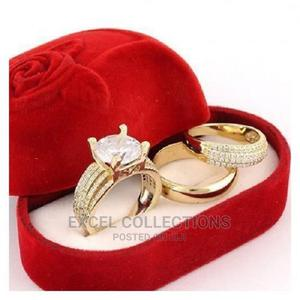Indiana Gold Plated Wedding Ring Set | Wedding Wear & Accessories for sale in Lagos State, Surulere