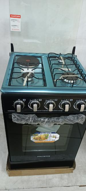 Polystar 50*50cm 3 Gas Burner 1 Electric,Oven Auto Ignition   Kitchen Appliances for sale in Lagos State, Ojo