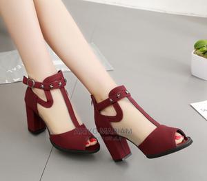 Beautiful Mesh Block Heel | Shoes for sale in Lagos State, Yaba