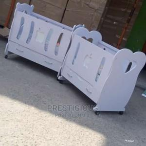 White Unisex Baby Cot | Children's Furniture for sale in Lagos State, Ikoyi