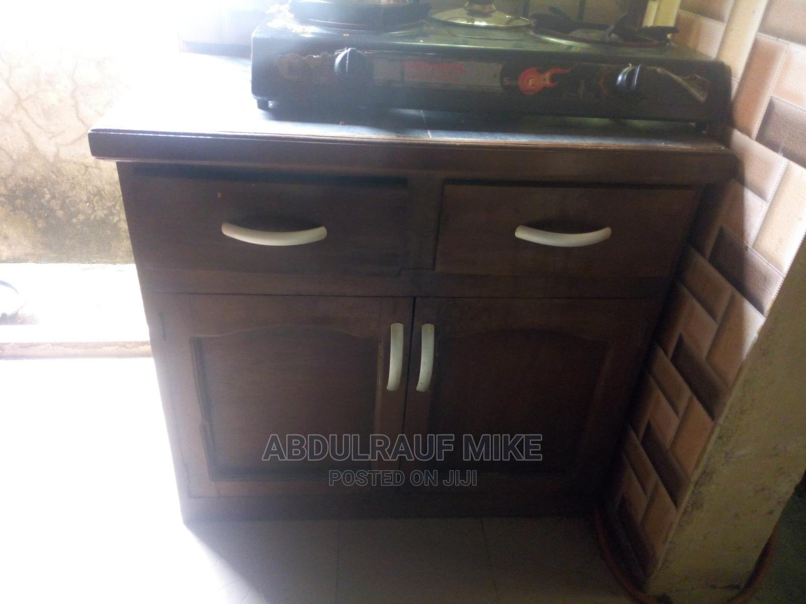 Kitchen Cabinet With Tiles Top for Placing Gas Top | Furniture for sale in Ikorodu, Lagos State, Nigeria