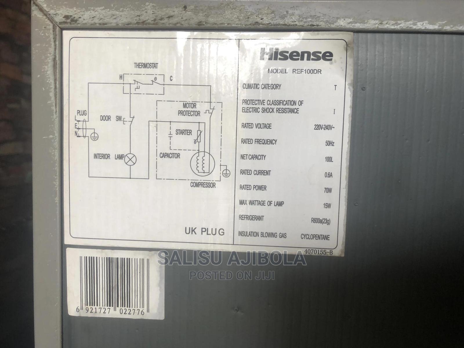 Archive: Hisense Single Door Fridge - 100L - REF100DR - Silver