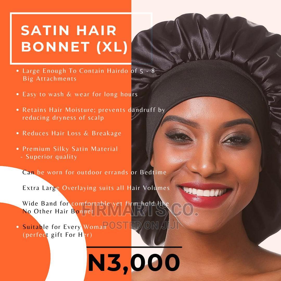 Archive: Satin Hair Bonnet Silky Head Wrap Cover Large Size